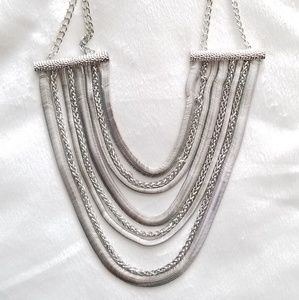 NY&C Silver Statement Necklace